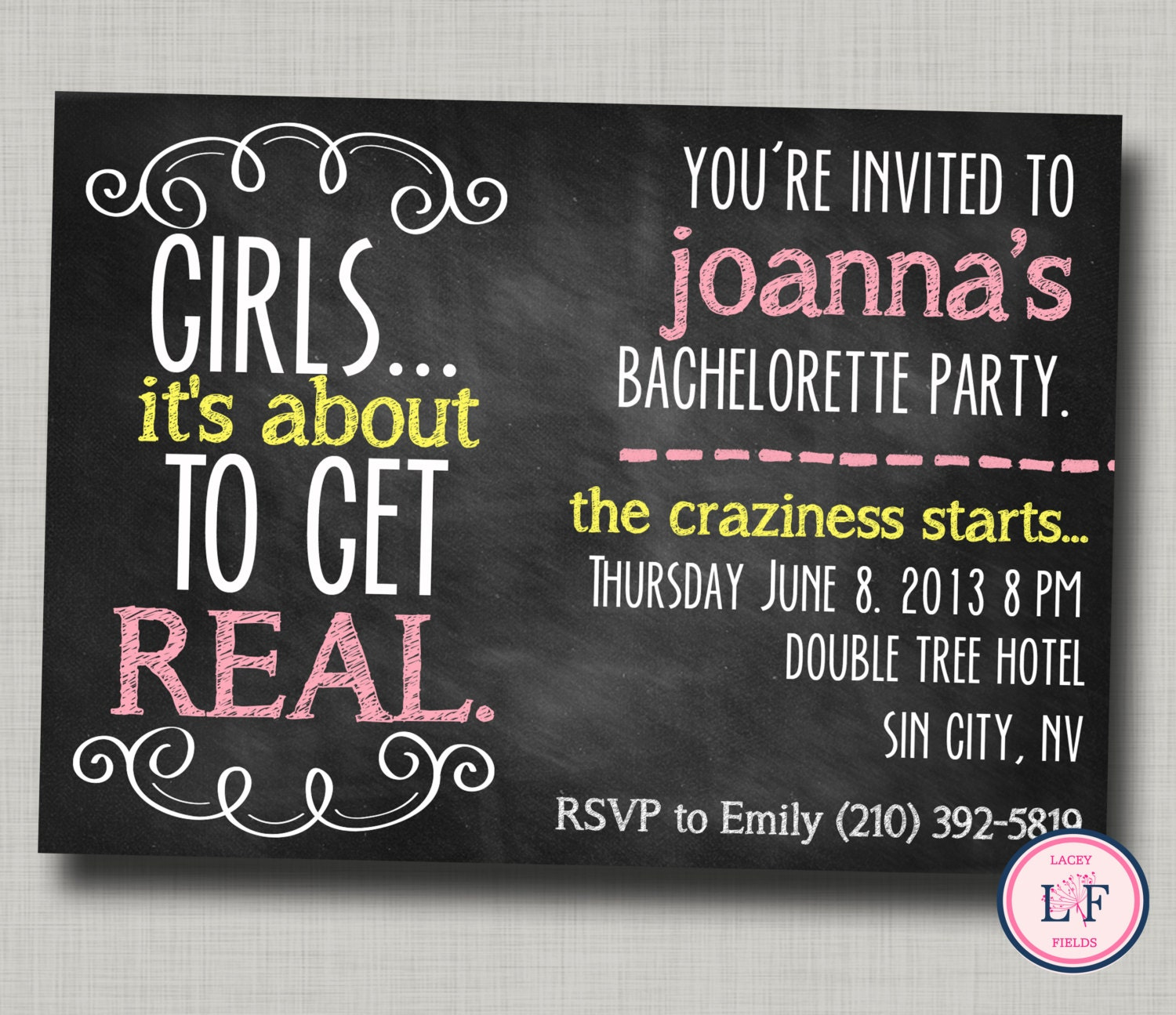 Printable Bachelorette Party Invitations could be nice ideas for your invitation template