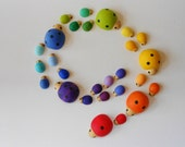 Mommas and babies montessori wood game of color sorting, matching, and counting ladybugs for kids
