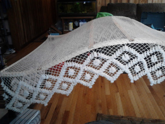 Handmade Fishnet Bed Canopy Full Sized Arch Frame Double