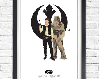 Star Wars - Solo Series - Han Solo and Chewbacca - 19x13 Poster