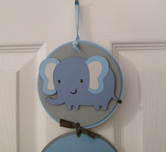 It 39 s a boy hospital door banner blue elephant baby boy for Baby boy door decoration