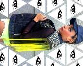 Black Levi's Studded Ombre Fringe Vest