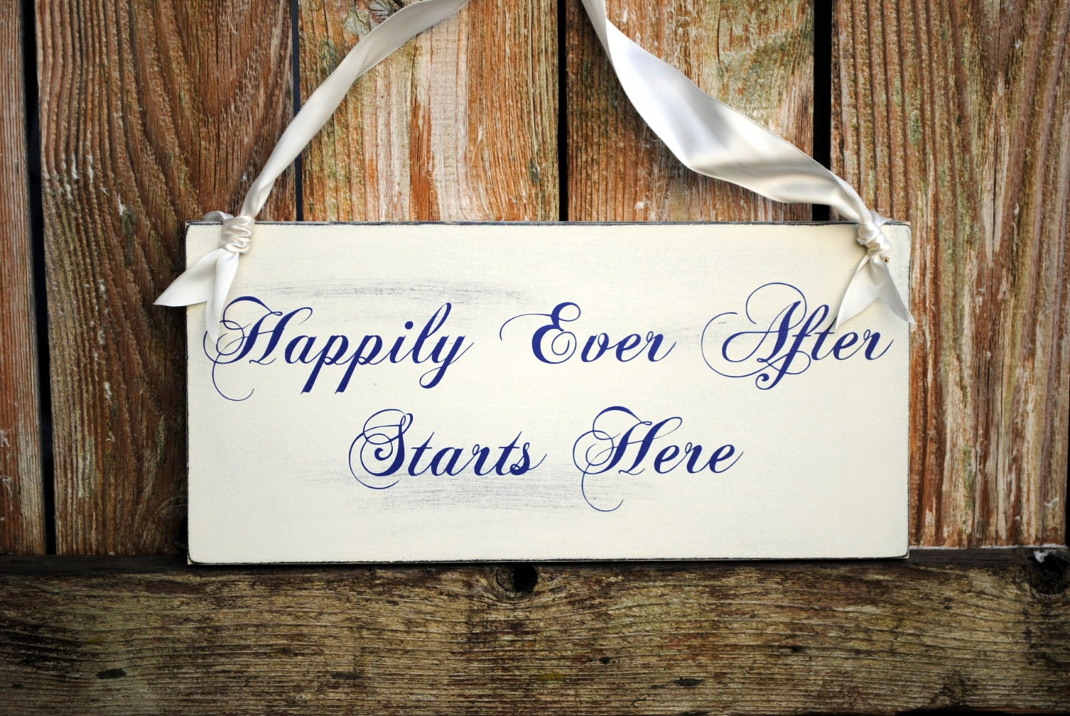 Happily Ever After Starts Here Wedding Sign By SignsToLiveBy
