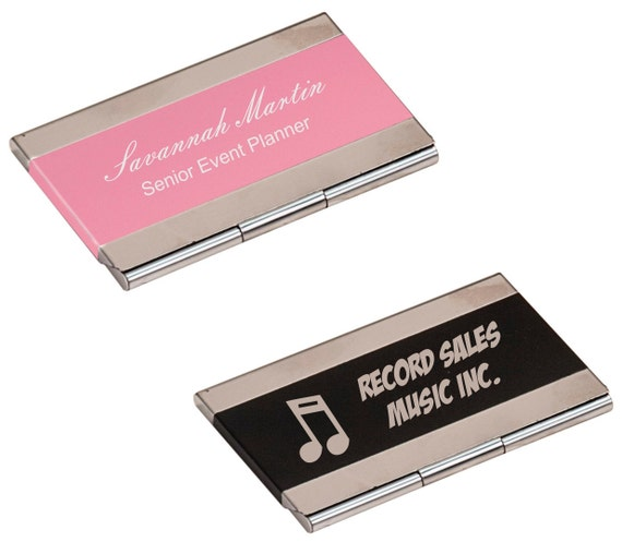Custom Personalized Engraved Business Card Holder BRAND NEW