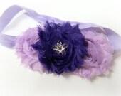 Purple Headband - Headbands - Flower Headband - Shabby Chic Flower Headband - Purple Lavender Childrens Headband, Purple Baby Headband, Baby