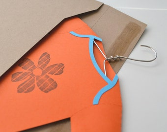 Orange and Turquoise Onesie Gift Card Holder