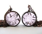 Adorable Dandelion Seeds Resin Pendant Necklace - dandelion seeds encased in resin with open back  copper bezel, Pressed Flower Jewelry