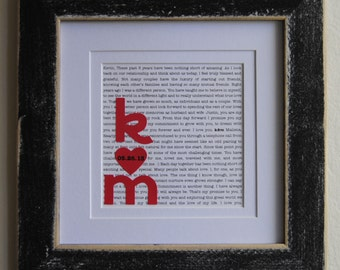Creative Wedding Gift For Husband : ... Gift/ Anniversary Gift for Husband/ Unique Wedding Gifts: Wedding Vows