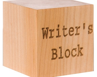 Wooden Writer's Block Cube Gift for Writer Wooden Writing Gift Poet Gift Author Gift Gift for Author Retirement Gift Professor Gift