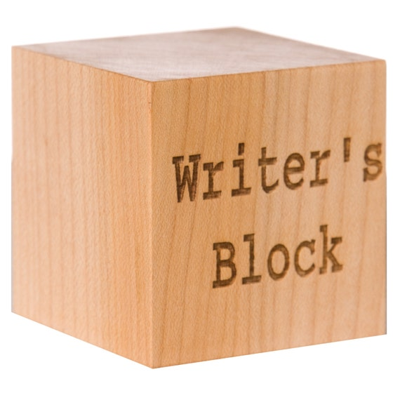 Writer's Block Gift for Writer Custom Writing Gift Custom Poet Gift Author Gift Gift for Poet Gift for Author Retirement Gift Professor Gift