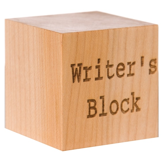 A wooden writer's block