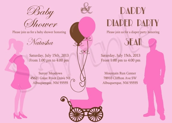 baby shower and diaper party invitation by acuriousextravaganza