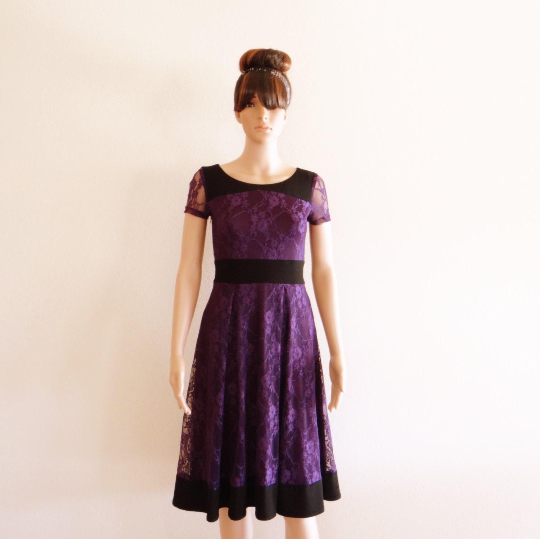 Purple Lace Bridesmaid Dress Dress With Sleeves Purple
