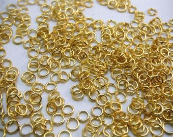 Gold Jump Rings Saw Cut 4mm Diameter (Quantity of 300) RING003