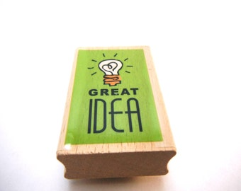 Great Idea Wood Mounted Rubber Studio G Stamp NEW