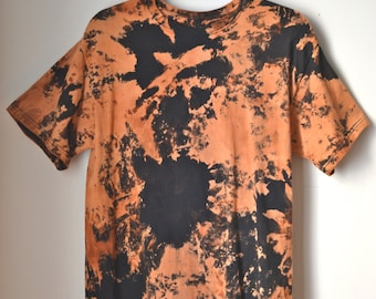 Popular items for bleached tie dye on etsy for How to bleach dye a shirt