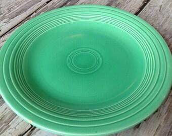 Vintage original Fiestaware green 10 1/2 inch plate