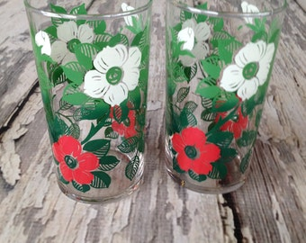 Vintage flower glasses