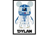 Personalized Star Wars R2D2 Disney Cruise Line Stateroom Door Magnet 4 x 6 Custom Personalized
