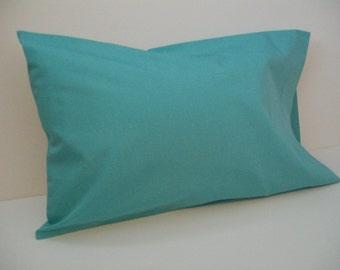 Organic Toddler Pillowcase, Travel Pillowcase, Pillowcase, Organic, Pillow Case, Turquoise