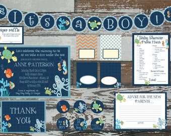 Lambs and Ivy Bubbles and Squirts Invitation PLUS 2 extras kit