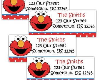Elmo Sesame Street- Personalized Address labels, Stickers