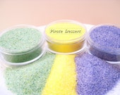 SANDING SUGAR - Mardi Gras Sugar Sprinkles - Cupcake and King Cake Decorations (Green, Purple, and Yellow)(3 oz  Plastic container of each)