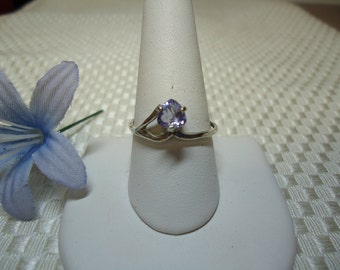 Trillion Cut Tanzanite Ring in Sterling Silver   #622