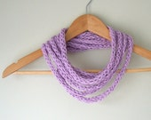 Violet Scarf Necklace . H...