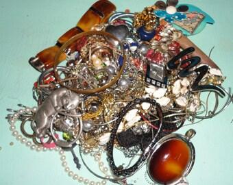 junk vintage jewelry lot, craft, wear, repair, recycle, upcycle, destash*