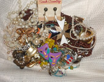 Vintage lot of jewelry repair, wear, repurpose,recycle, upcycle, crafts