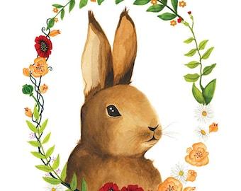 Bunny Illustration - Archival Print 8x11