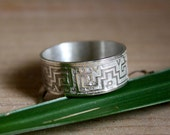 Greek sterling silver ring, Serpiente de agua, man or woman