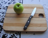 Small 12 inch cutting board or serving platter made with Cherry, Maple, and Black Walnut