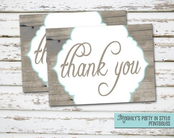 INSTANT DOWNLOAD - Rustic Country -  Thank You Notes