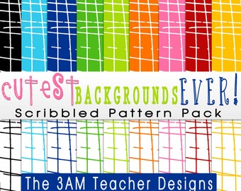 Cutest Backgrounds Ever: Scribbled Pattern Pack