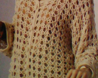 Two (2) Vintage Crocheted Women's Cardigan Patterns