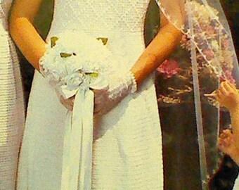 Vintage Crochet Wedding Gown Pattern