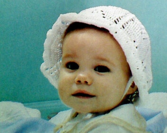 5  Vintage Crochet Baby Bonnet Patterns