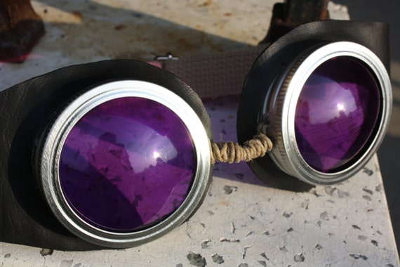Black and Purple Steampunk Goggles for Theresa Only