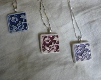 Vining Design Floral Pendant