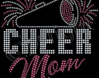 Cheer Mom Sequins - Short Sleeve T-Shirt - Ladies