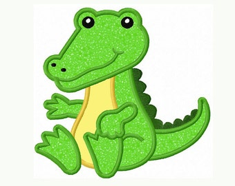 Instant Download Alligator Baby Applique Machine Embroidery Design NO:1307