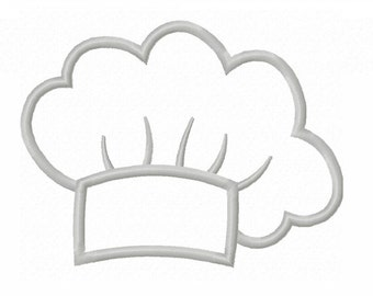 Instant Download Cook Chef hat  Applique Machine Embroidery Design NO:1327