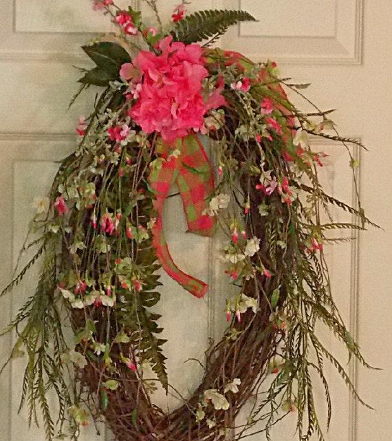 spring summer grapevine wreath front door wreath
