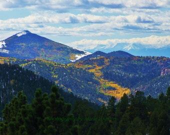 Colorado Fine Art Photography /Wall Print Mountains /Aspens /Fall.