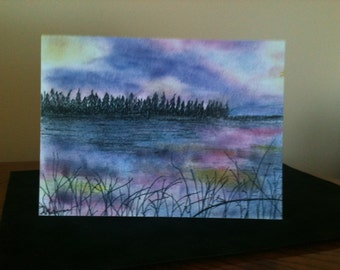 "Fine Art Card Print of Artist's Original Mixed Media picture ""Nature's Colours"""