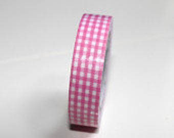 Red gingham tape- red cute tape -red masking tape Qty1