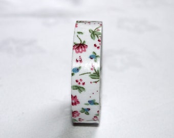 pretty flower tape- cute masking kawaii tape qty 1