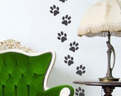 Animal Paw Prints vinyl decal dog and cat tracks vinyl wall decal sticker 8 sets